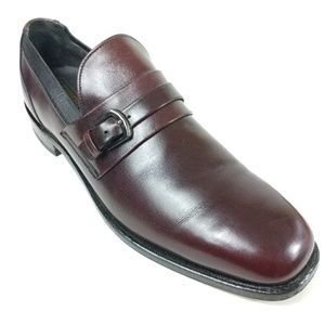 E T Wright Monk Strap Loafers Burgundy 9.5 A